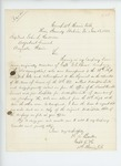1863-11-18  Captain William A. Barker requests descriptive lists for men who transferred from the 38th New York Regiment