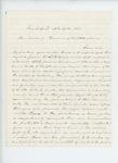 1863-11-21  Benjamin Litchfield writes Governor Coburn regarding promotion of his son Julius