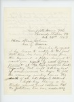 1863-11-25  Chaplain B.A. Chase informs Governor Coburn that a petition on behalf of Captain Robert Gray may have been maliciously withheld