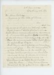 1863-11-25  Samuel Fessenden writes Governor Coburn recommending Captains Davis and Litchfield for promotion