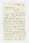 1863-12-04  Walter Nichols writes Governor Coburn urging the promotion of Captain Gray