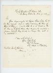1863-12-07  Lieutenant Charles F. Sawyer replies to Adjutant General Hodsdon regarding cases of Edwin Libby and Abijah Clay