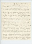 1863-12-07  Colonel Elijah Walker writes Mr. Davis in favor of the appointment of George Davis as Major