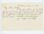 1863-12-15  J. Libby writes Major Charles Miller regarding his son Edwin