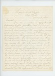 1864-01-09  Colonel Elijah Walker writes regarding deserters Joseph Sherman, Amandus Ludwig, and Emerson Overlock