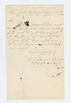 1864-01-17  Corporal Edward Hart requests transfer from Brewer quota to Frankfort