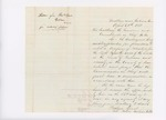 Letter from Frederic Speed to Governor Washburn requesting permission to organize company of volunteers for light infantry, April 20, 1861