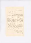 Letter from Captain Isaac Noyes to Adjutant General Hodsdon regarding enlistments, May 9, 1861