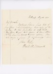 Letter from Captain Mark H. Dunnell, May 16, 1861