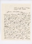 Letter from Edward W. Thompson to Governor Washburn recommending Charles Whitman as Adjutant, May 23, 1861