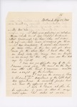 Letter from Colonel Mark H. Dunnell to Governor Washburn regarding contract for hats, May 28, 1861