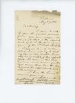 1861-05-29 Edward W. Thompson writes to Governor Washburn recommending C.S. Hawkins as surgeon by Edward W. Thompson