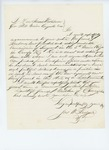 Undated (circa 1861) - Joseph M. Sawyer recommends James G. Sanborn for sergeant