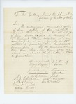 Undated (circa 1861) - David Fernald recommends Benjamin Franklin Leavitt for lieutenant