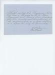 Undated (circa 1861) -  W. A. [Crane?] recommends Benjamin Norton for promotion