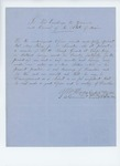 Undated (circa 1861)   Captain A.P. Harris recommends Moses King for lieutenant