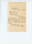 Undated (circa 1861) -  George E. Brickett recommends Mr. Twitchell for Quartermaster