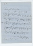 Undated (circa 1865) -  Andrew Stephenson requests money and land due him for service