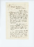 Undated (circa August 1861) -  Joseph Howard recommends Captain George P. Sherwood for promotion to Major