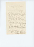 Letter from Henry Thomas to the Adjutant General