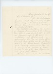 Undated - Colonel N. T. Jackson recommends A.B. Twitchell for Quartermaster