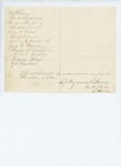 Incomplete letter from Cyrenus P. Stevens