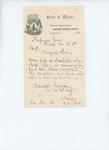 Letter from Everett Carver to Fessenden Swan