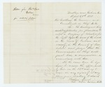 1861-04-20 Fredrick Speed requests permission to enlist a company of volunteers from Gorham for the Light Infantry by Fredrick Speed