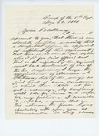 1861, May, 23. Letter from [Edward?] W. Thompson to Governor of Maine