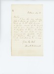 1861, May, 29. Letter from Edward Thompson to Governor Israel Washburn