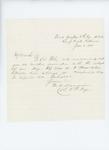 1861-06-05  Colonel Mark Dunnell writes that Lieutenant Colonel Illsley will communicate regarding regimental matters