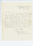 1861-06-05  Colonel Mark Dunnell recommends Seth Hunkins for surgeon