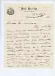 1861-06-08  Colonel Miller writes to Governor Washburn about muskets and payroll