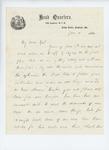 1861-06-10  Colonel Dunnell writes to Hodsdon regarding progress and needs of the regiment