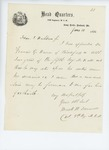1861-06-10  Colonel Dunnell appoints Francis Warren as assistant surgeon