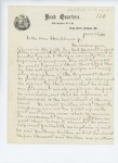 1861-06-10  Colonel Dunnell and officers of the regiment request denial of commission for Josiah Brady