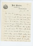 1861-06-18  Colonel Mark Dunnell requests horses