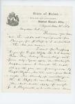 1861-06-21  Adjutant General Hodsdon writes to an unknown Colonel regarding status of regiment