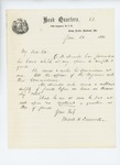 1861-06-22  Colonel Dunnell requests commission for Quartermaster Merrill