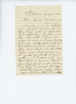 1861-07-06  S.B. Cartiten supports commission for Josiah R. Brady in the 7th Regiment