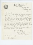 1861-07-07  Colonel Dunnell recommends Charles S. Robbins as a teamster