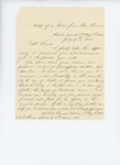 1861-07-27  Colonel Oliver Otis Howard writes to Captain Thomas to recommend him for promotion