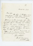 1861-07-29  Colonel Dunnell informs the Governor that Charles Robbins has returned to Maine