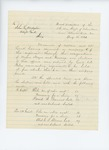 1861-08-15  Return of election of officers in Company C, 5th Maine Regiment