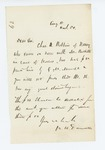 1861-08-18  Colonel Dunnell regarding $50 payment to Charles Robbins for care of horses