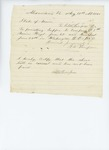 1861-08-18  Bill for furnishing supper and breakfast
