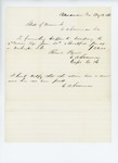 1861-08-19  Bill for supper and breakfast for Company H