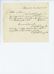 1861-08-19  Bill for supper and breakfast for Company E