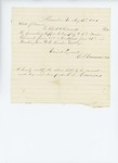 1861-08-19  Bill for supper and breakfast for Company I
