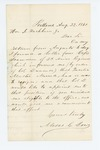 1861-08-22  Moses G. Dow applies for position as Quartermaster